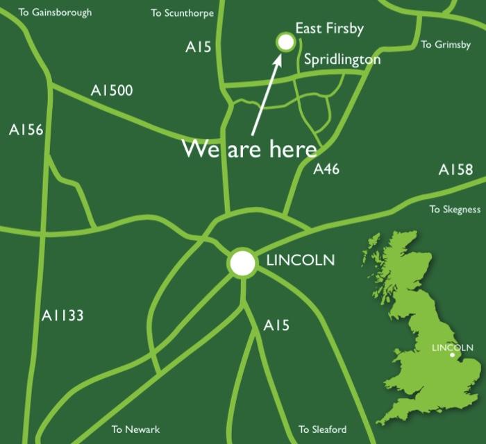 LincolnshireLanesLocationMap
